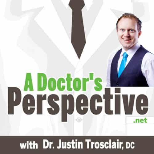 a Doctors Perspective labcoat Podcast Face Logo