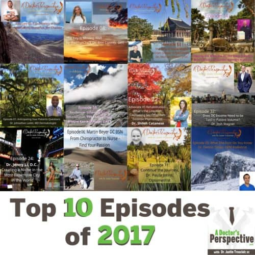 top 10 most listened to of 2017 shownote A Doctor's Perspective Podcast