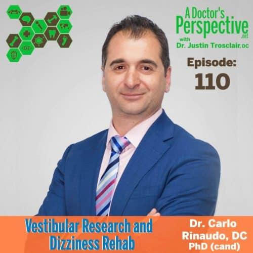e 110 a doctors perspective carlo rinaudo dc vestibular research phd