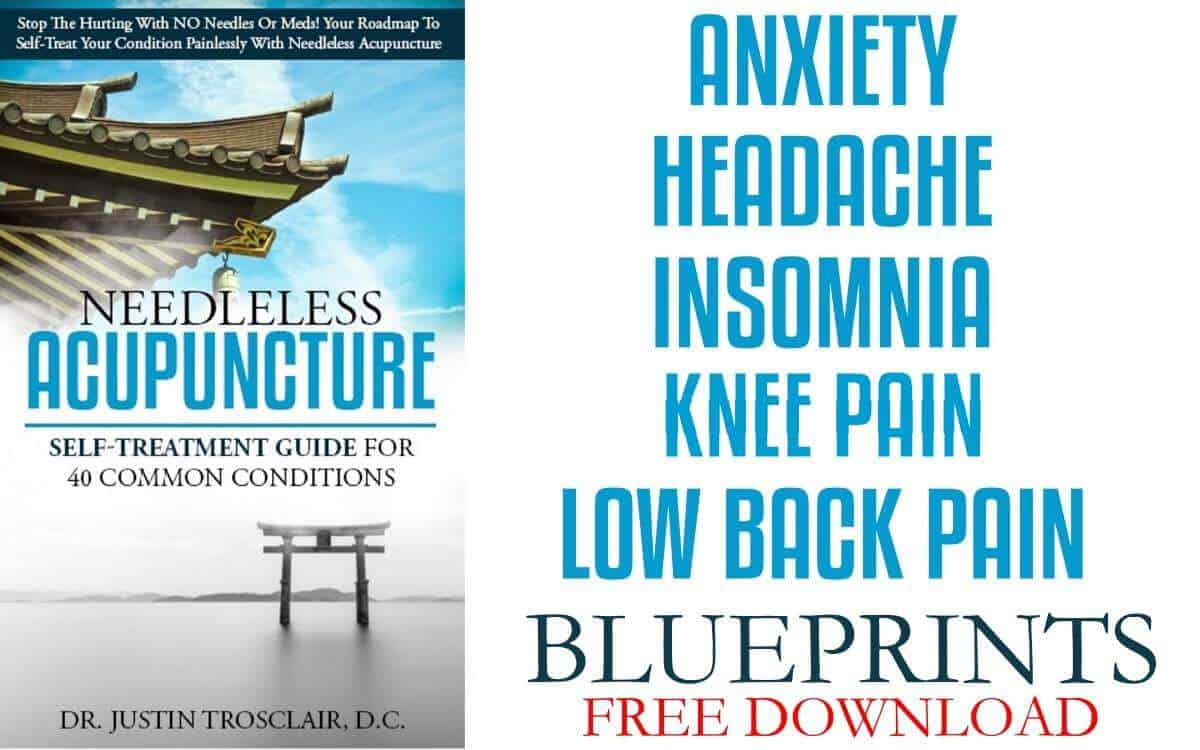anxiety, headache, insomnia, knee pain, low back pain no needle acupuncture blueprints free download