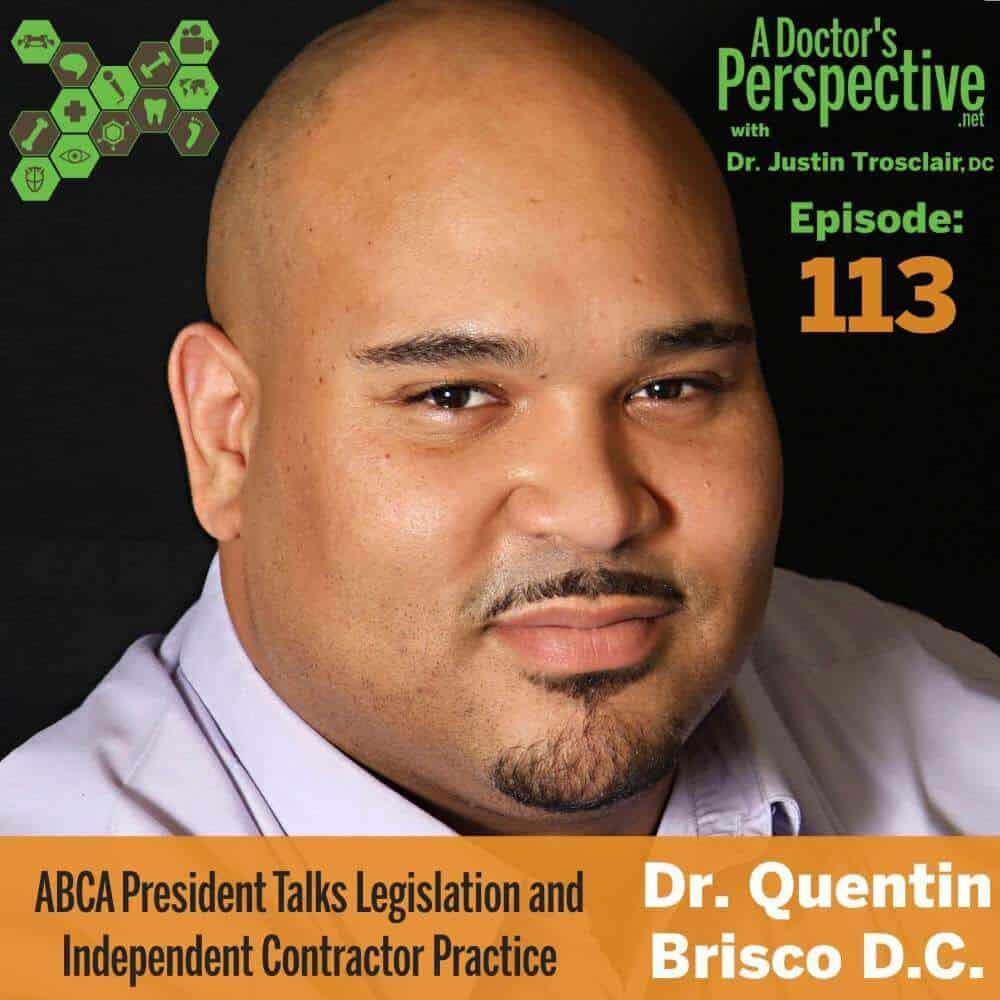 e 113 quentin brisco abca president a doctors perspective podcast 1