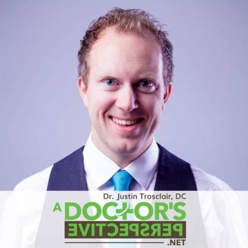 a doctors perspective podcast logo justin and backwards