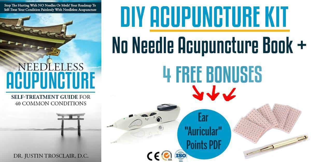 no needle acupuncture book and 4 bonuses electric acupuncture pen auricular points