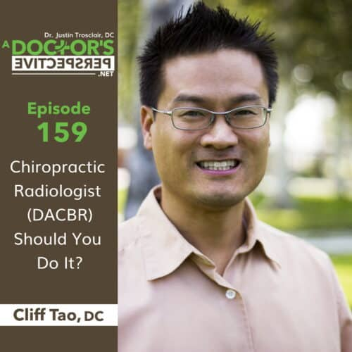 a doctors perspective cliff tao dacbr e 159 chiro rad