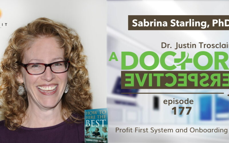 e 177 a doctors perspective Sabrina Starling profit first tap potential